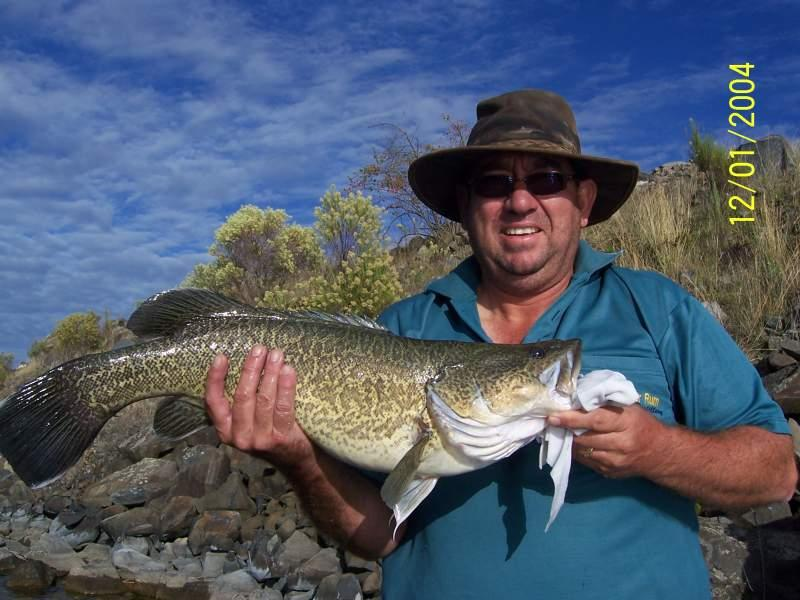Andrew with a nice Murray Cod
