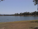 Logans Inlet with Lumley Hill camp other side