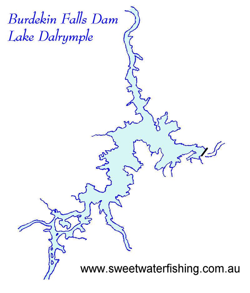 Burdekin Dam Queensland Burdekin Dam Map