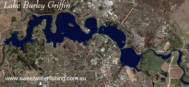 Lake Burley Griffin Satelite image