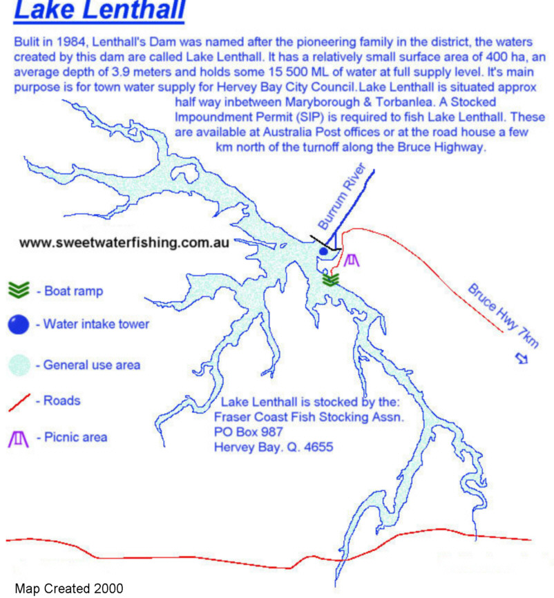 Lake Lenthall Map