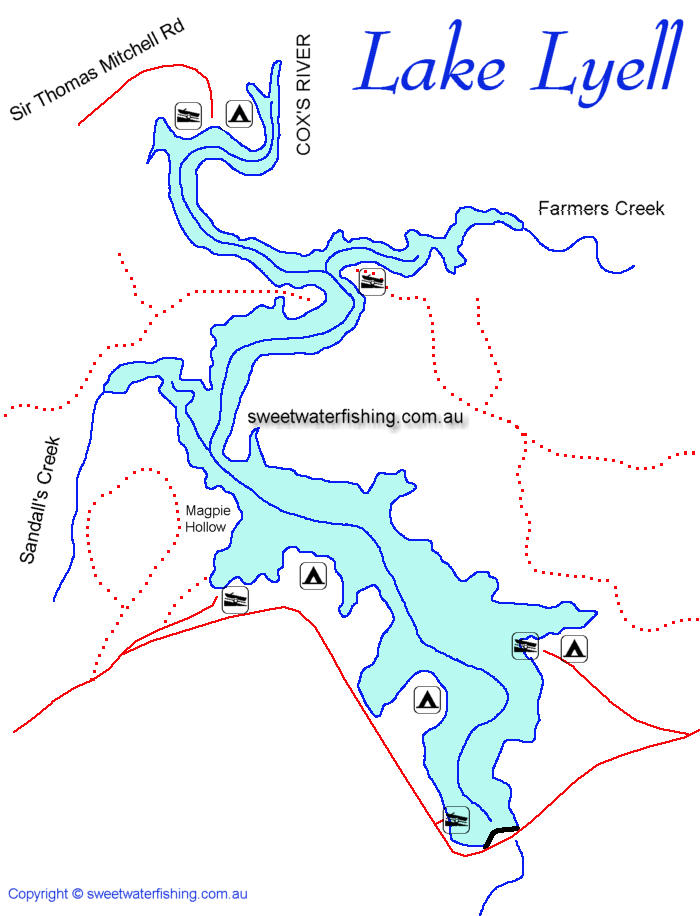 Lake Lyell Map