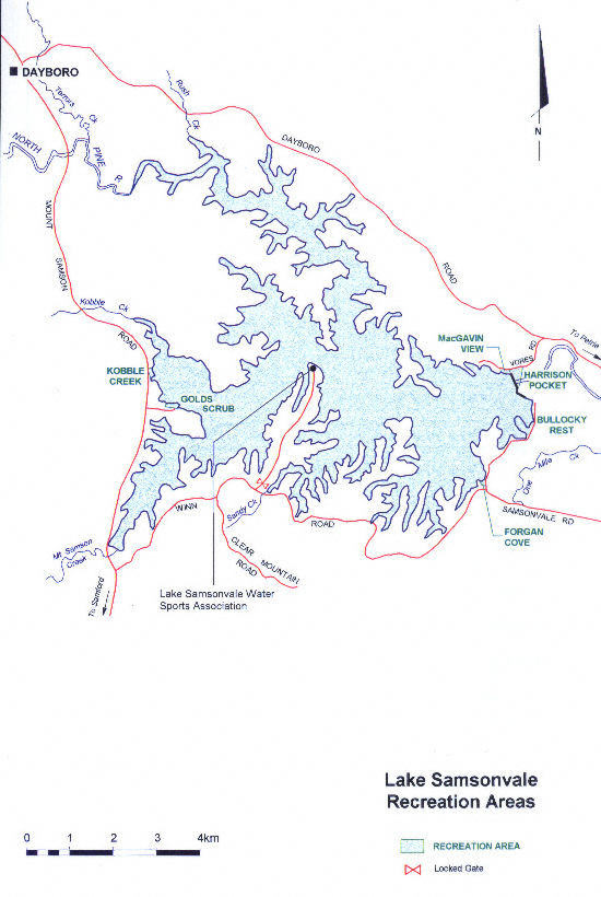 Lake Samsonvale Map
