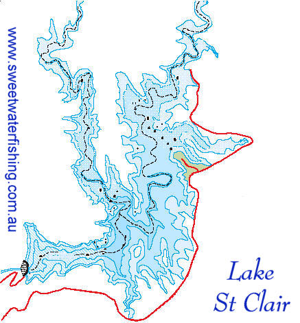Lake St Clair map