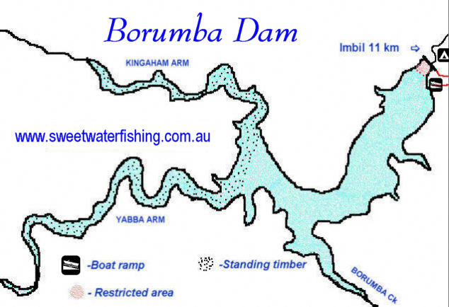 Lake Borumba Map