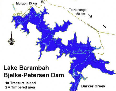 Lake Barambah Map